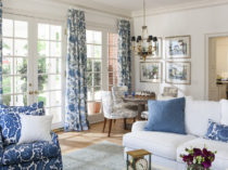 7 - Lori Dennis Interior Design Lake Sherwood Great Room Blue White
