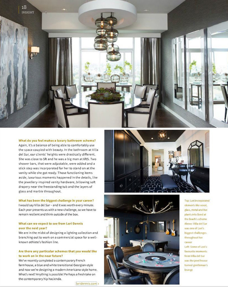 Inex luxurious moments happen in the details lori dennis for Celebrity interior designers