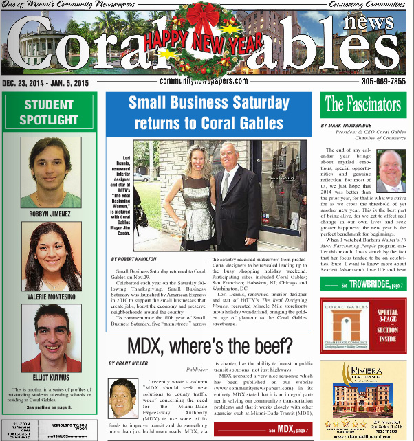 Coral Gable News Small Business Saturday Returns To Coral Gables Celebrity Interior Designer Lori Dennis
