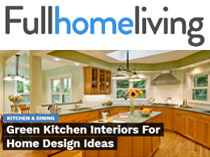 Full Home Kitchen Features Green Kitchen by Lori Dennis Inc
