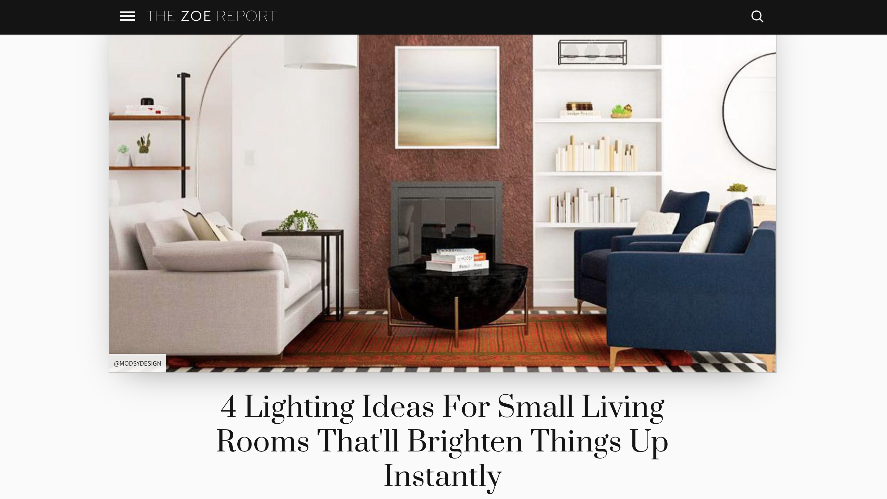 4 Lighting Ideas For Small Living Rooms That'll Brighten Things Up Instantly