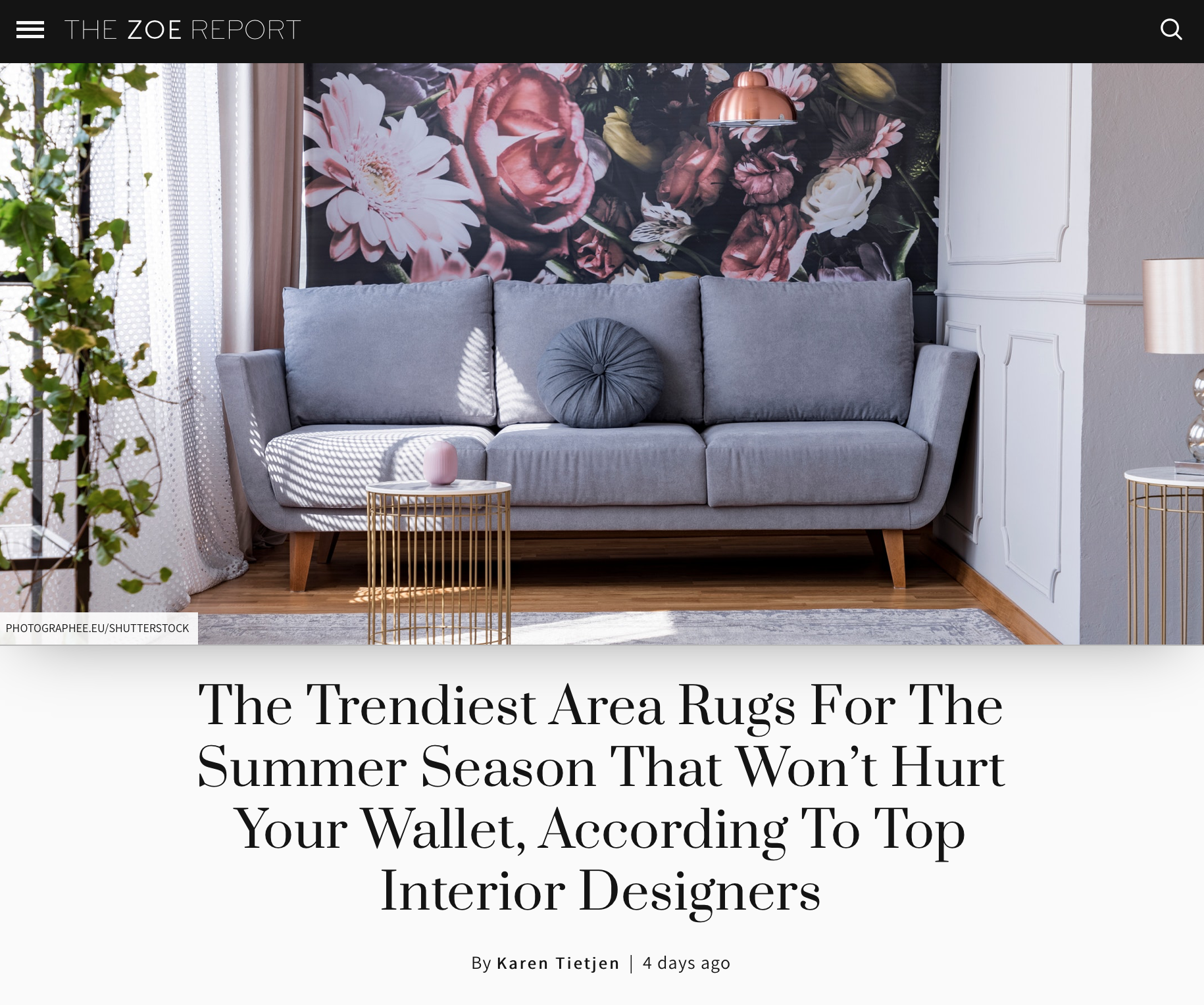 "Throw rugs ground a space and delineate areas,"" explains Lori Dennis, owner of Lori Dennis, Inc. in Los Angeles. ""This is especially important in open place rooms where there are no walls separating spaces."""