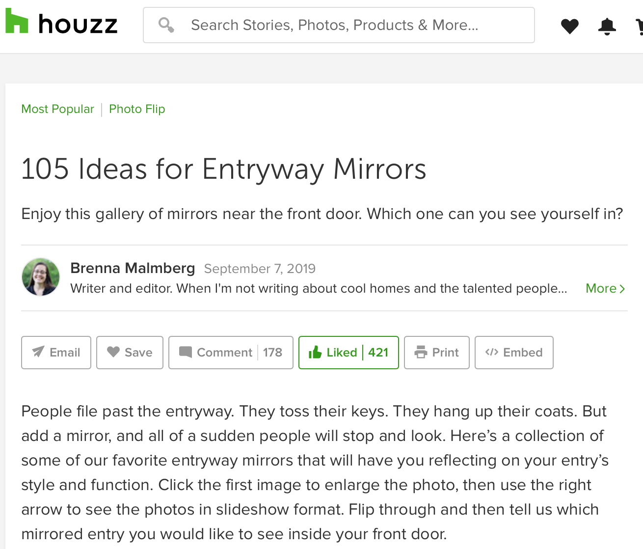 Best entryway mirrors on houzz